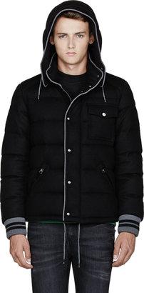 Moncler Black Quilted Wool Bresle Jacket