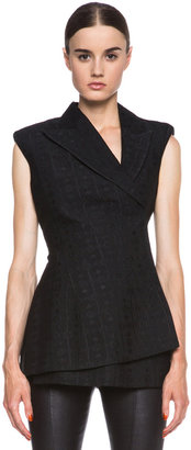 Stella McCartney Eloise Silk-Blend Blazer in Black