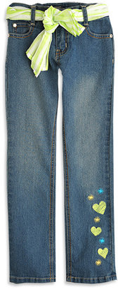 Pumpkin Patch Relaxed Leg Emb Denim Jeans