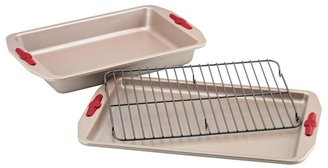 Paula Deen 3-pc. Nonstick Signature Bakeware Bakeware Set, Red Grips