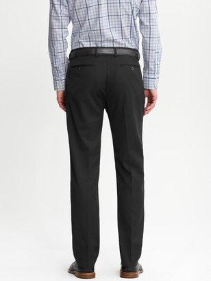 Banana Republic Tailored slim black wool trouser