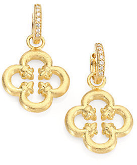 Jude Frances 18K Yellow Gold Clover Leaf Earring Charms