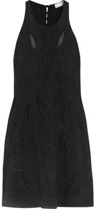 IRO Irene embroidered crepe de chine mini dress