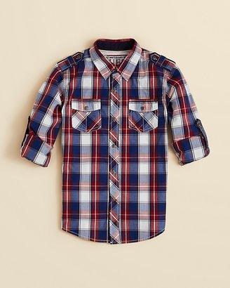GUESS Boys' Plaid Woven Shirt - Sizes S-XL