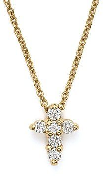 Roberto Coin 18K Yellow Gold Small Cross Necklace, 16