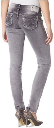 Silver Jeans Juniors Jeans, Aiko Skinny, Destroyed Gray Wash