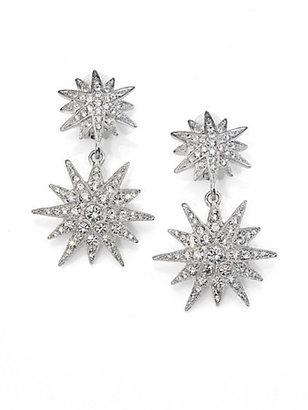 Kenneth Jay Lane Double Star Drop Earrings