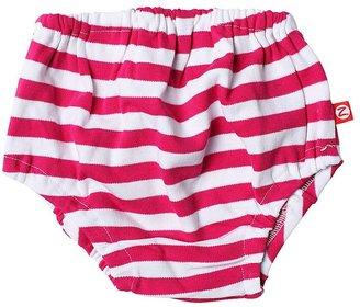 Zutano Primary Stripe Diaper Cover - Fuchsia-12 Months