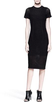 Alexander Wang Short-Sleeve Knit Midi Dress