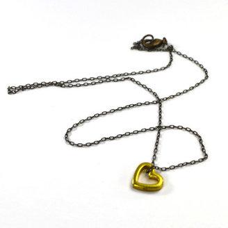 City Owl 1960s Tiny Open Heart Necklace
