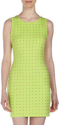 Romeo & Juliet Couture Studded Cutout-Back Dress, Neon Lime
