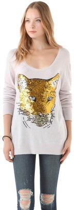 Wildfox Couture Sequin Lion Friend Sweater