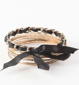 Chanel With Love From CA Ribbon Metal Bangles
