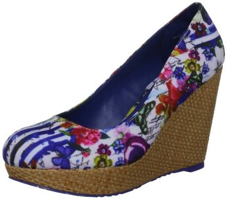 Desigual Women's Sandy Leather Blue Klein Platforms 31Ps400503636 3.5 UK 36 EU