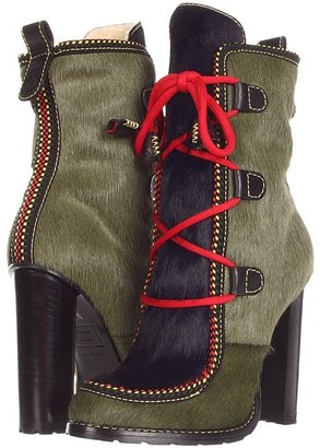 DSquared DSQUARED2 - W12J208022 Ankle Boot (Pony Dark Green/Blue) - Footwear