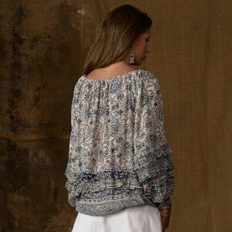 Denim & Supply Ralph Lauren Printed Off-the-Shoulder Shirt