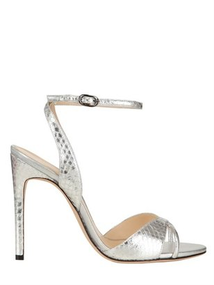 Alexandre Birman 110mm Mirrored Water Snake Sandals