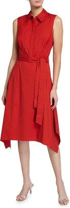 Lafayette 148 New York Moxie Sleeveless Collared Dress