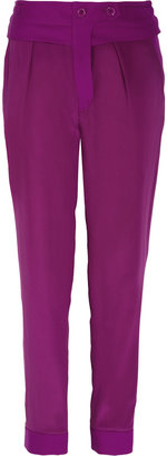 Sonia Rykiel Sonia by Silk and wool-twill tapered pants