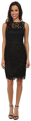 Adrianna Papell - Illusion Neck Lace Dress Women's Dress $168 thestylecure.com
