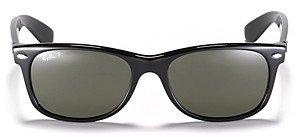 Ray-Ban Unisex New Wayfarer Polarized Sunglasses, 55mm