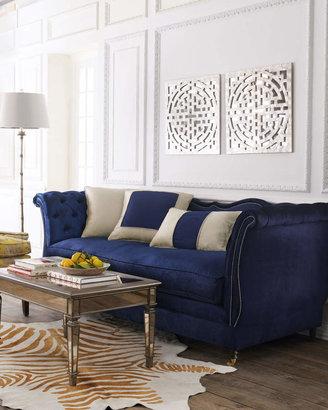 Haute House Horton Navy Velvet Sofa