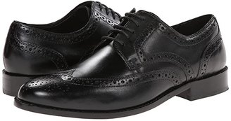 Nunn Bush Nelson Wing Tip Dress Casual Oxford (Black) Men's Dress Flat Shoes
