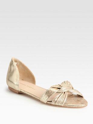 Loeffler Randall Luella Mignon Twist Metallic Leather Sandals
