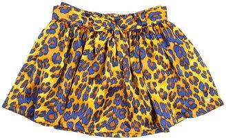 Juicy Couture Electric Cheetah Satin Skirt (Toddler/Little Kids/Big Kids) (Softer Blonde Combo) - Apparel