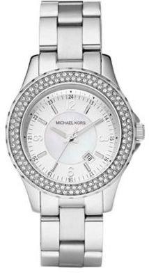 Michael Kors Ladies' Silvertone Stainless Steel Glitz Watch