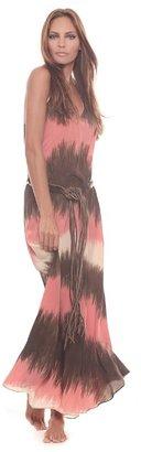 Ramona Larue Ramona La Rue Tara Dress in Coral Tie Dye
