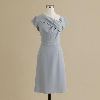 J.Crew Origami sheath dress in wool crepe