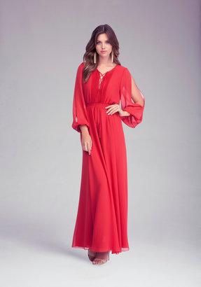 Bebe Open Shoulder Maxi Dress