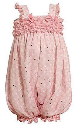 Bonnie Baby Newborn Small Ruffle Front Chiffon Party Pants