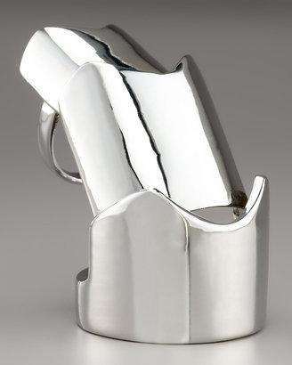 Eddie Borgo Hinged Plate Ring, Silvertone