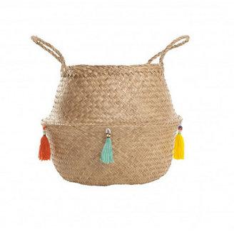 Tasseled Belly Basket