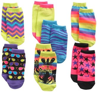 Pink Cookie 6-pk. zebra sunglasses no-show socks - girls