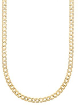 """Italian Gold Curb Chain 22"""" Necklace (5-3/4mm) in Solid 14k Gold"""