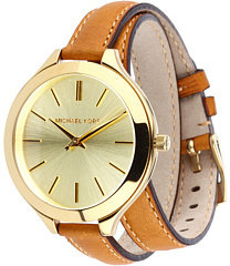 Michael Kors Michal Kor Collction MK2256 - Slim Runway Doubl Wrap Watch