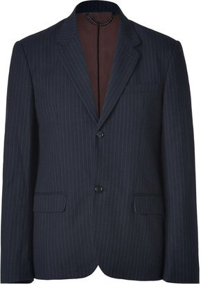 Marc by Marc Jacobs Navy-Multi Pinstriped Ivan Suit Blazer