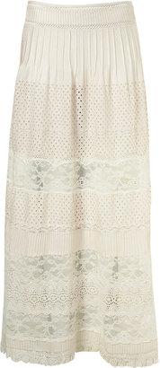 Topshop Premium Crochet Maxi Skirt