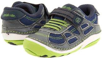 Stride Rite SRT SM Conner (Infant/Toddler) (Navy/Lime) - Footwear