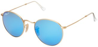 Ray-Ban RB3447 Round Metal Polarized 50mm $200 thestylecure.com