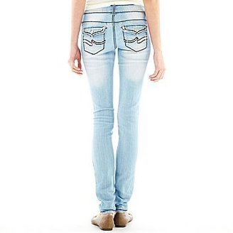 JCPenney Saddle-Stitch Skinny Jeans