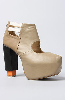 Gold Dot The Hindy Booties in Beige