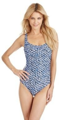 MICHAEL Michael Kors Studded Printed Swimsuit