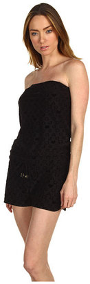 Marc by Marc Jacobs Stardust Logo Bandeau Short Romper Cover Up