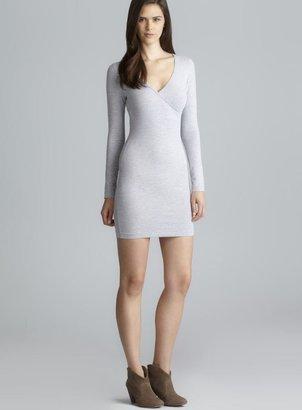American Apparel Long Sleeve Surplice Neck Stretch Dress