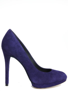 Brian Atwood Fredrique Suede Pump in Purple