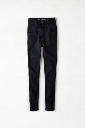 American Eagle Outfitters Dark Midnite Indigo Super Sky High Jegging Jeans, Womens 0 Regular By